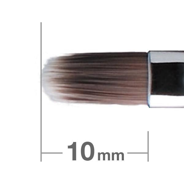 HAKUHODO Retractable Cover Lip Brush Round & Flat PBT