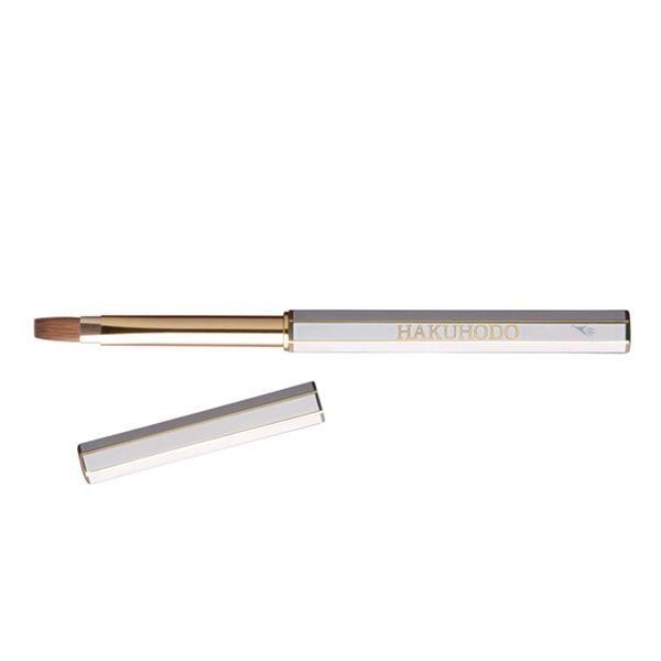 HAKUHODO Retractable Turn-style Lip Brush L Wh Flat