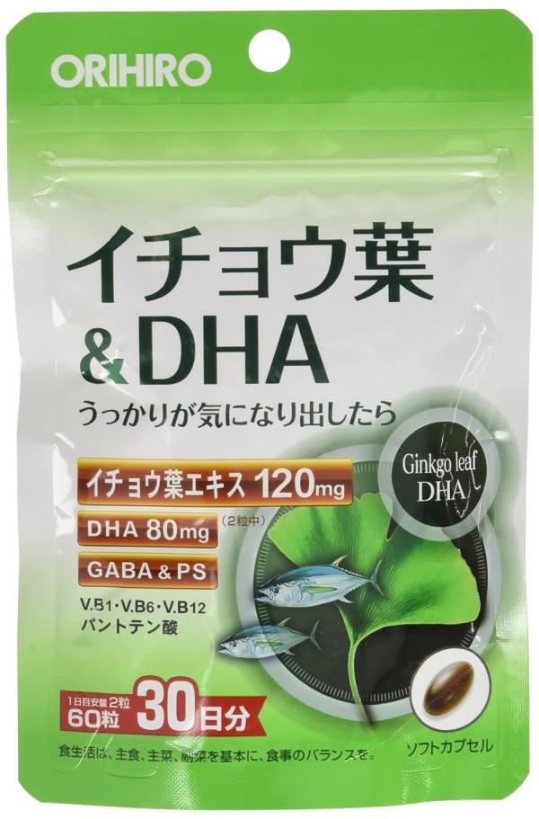 Orihiro Ginkgo Leaf Extract & DHA