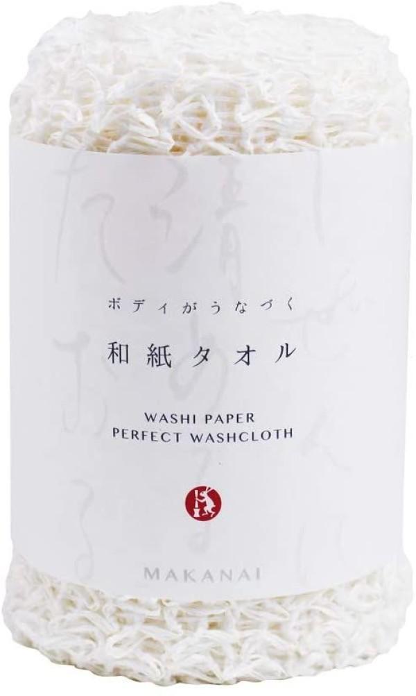 Makanai Cosmetics - Washi Paper Body Scrub Towel (White)