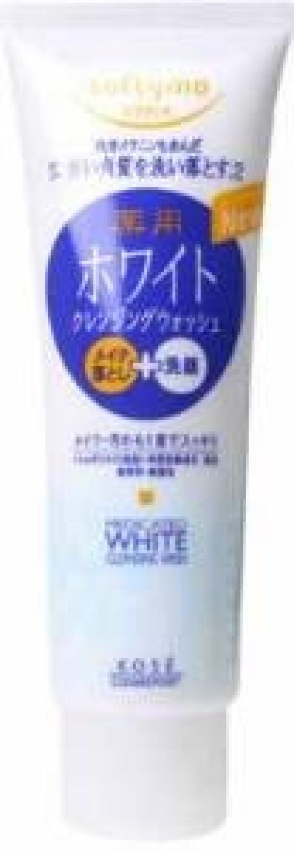 Cream-foam for washing Softymo with whitening effect.
