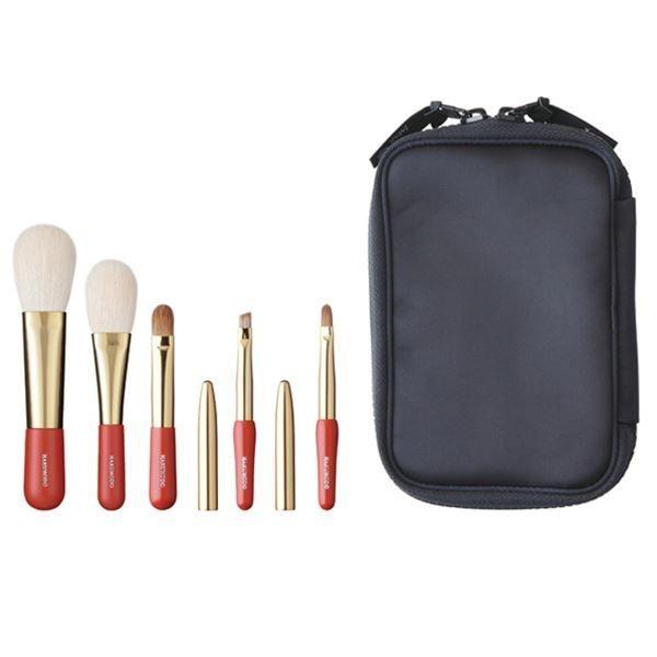 Set of 5 brushes HAKUHDO Misako Portable Brush Set