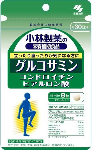 Kobayashi Pharmaceutical Glucosamine + Chondroitin + Hyaluronic Acid Joint Health