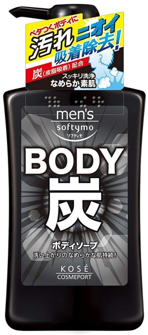 Kose Cosmeport Men's Softymo Charcoal Body Soap
