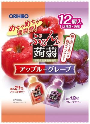 Orihiro Plan Du Puru & Jelly Pouch Apple + Grape