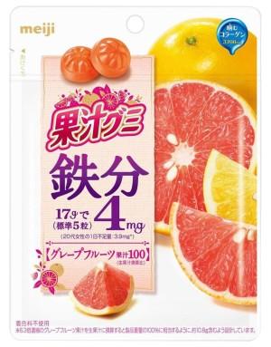 Meiji Fruit Juice Gummy chewy candy with grapefruit flavor