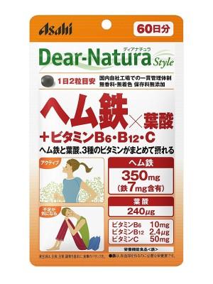 Asahi Dear-Natura Style Heme Iron + Folic Acid + Vitamin B6 + V. B12 + V. C