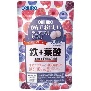 ORIHIRO IRON Chewing Vitamins (Berries)