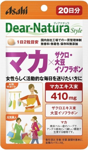 Asahi Dear-Natura Maca + pomegranate + soy isoflavone