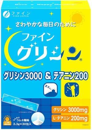 Fine Japan  Glycine 3000 & Theanine 200 Happy Morning