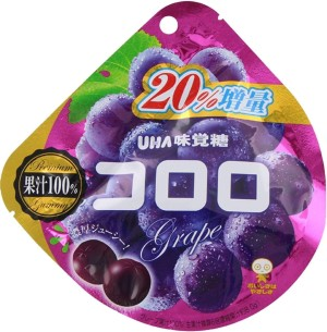 UHA Grape Chewing Candies with Collagen and Red Grape Juice