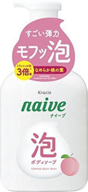 Kracie Naive Foaming Body Wash Peach