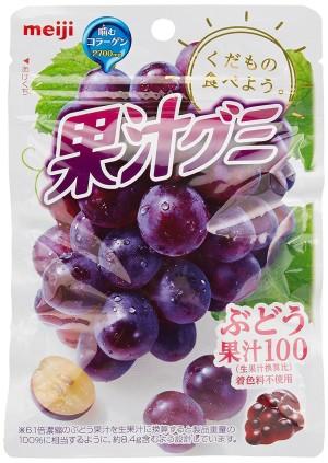 MEIJI Fruit Gumi Gummy Candy Collagen (Grapes)