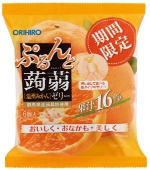 Orihiro Jelly Mandarin Mandarin-flavored Konniku jelly