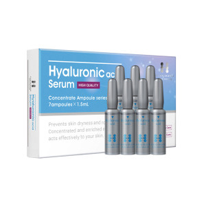 Concentrated serum with three types of hyaluronic acid HANAJIRUSHI Ampoule Serum